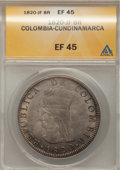 Colombia, Colombia: Cundinamarca 8 Reales 1820-JF,...