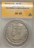 Colombia, Colombia: Cundinamarca 8 Reales 1821-Ba-JF,...