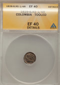 Colombia, Colombia: Republic 1/4 Real 1828-B-RS,...