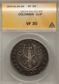Colombia, Colombia: Republic 8 Reales 1834-RS,...