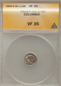 Colombia, Colombia: POPAYAN 1/4 Real 1826-P-RU,...