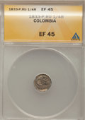 Colombia, Colombia: Popayan 1/4 Real 1833-P-RU,...