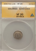 Colombia, Colombia: Popayan 1/2 Real 1836-P-RU,...