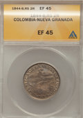 Colombia, Colombia: Bogota 2 Reales 1844-RS,...