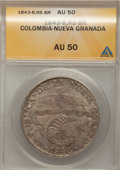Colombia, Colombia: Bogota 8 Reales 1843-RS,...