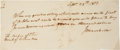 Autographs:Statesmen, John Marshall Autograph Document Signed as Chief Justice of theUnited States Supreme Court. ...