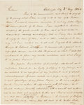 "Autographs:Statesmen, Henry Clay Autograph Letter Signed as Presidential Candidate. Threepages, 7.75"" x 9.75"", ""Washington City,"" May 3, 1844..."