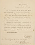 Autographs:U.S. Presidents, Ulysses S. Grant Partly Printed Document Signed as Secretary of War Appointing Charles B. Stoughton a Brigadier General by Bre...