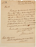 Autographs:Statesmen, John Marshall Autograph Letter Signed as Secretary of State...