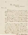 Autographs:Statesmen, [Zachary Taylor] William L. Dayton Autograph Letter SignedReporting on Whig Politics During the 1848 Campaign. One page,7....