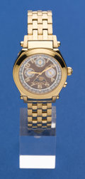Timepieces:Wristwatch, Invicta Model 4827 Gold Tone Calendar With Moon Dial Wristwatch....