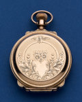 Timepieces:Pocket (post 1900), Waltham 18 Size Box Hinge Hunter's Case Low Karat Gold PocketWatch. ...