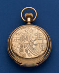 Timepieces:Pocket (post 1900), Illinois 14k Gold Transitional 18 Size Pocket Watch Dust Cover HasBeen Removed . ...