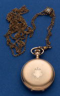 Timepieces:Pocket (post 1900), Waltham 6 Size Hunter's Case With Slide Chain Pocket Watch. ...