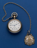 Timepieces:Pocket (post 1900), Hampden 18 Size Pocket Watch With Fob. ...