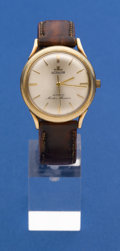 Timepieces:Wristwatch, LeCoultre 14k Gold Master Mariner Automatic Wristwatch. ...