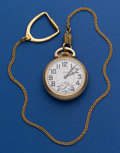 Timepieces:Pocket (post 1900), Waltham 21 Jewel Grade 16-A Pocket Watch With Chain. ...