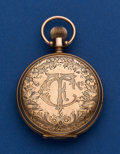 Timepieces:Pocket (post 1900), Elgin 10k Unmarked Gold 6 Size Pocket Watch. ...