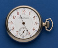 Timepieces:Pocket (post 1900), Manistee Watch Co. 16 Size Pocket Watch. ...