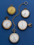 Timepieces:Pocket (post 1900), Lot of Five Pocket Watches. ... (Total: 5 Items)