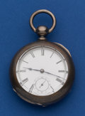 Timepieces:Pocket (pre 1900) , Waltham 4 Oz. Coin Silver Broadway Key Wind Pocket Watch. ...