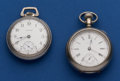 Timepieces:Pocket (post 1900), Two Waltham's 18 Size Running Pocket Watches. ... (Total: 2 Items)