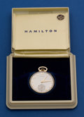 Timepieces:Pocket (post 1900), Hamilton 14k Gold 917 Pocket Watch. ...