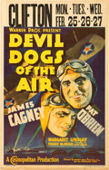 "Movie Posters:Action, Devil Dogs of the Air (Warner Brothers, 1935). Window Card (14"" X22"").. ..."