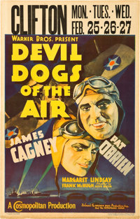 """Devil Dogs of the Air (Warner Brothers, 1935). Window Card (14"""" X 22"""")"""