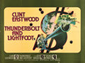 "Movie Posters:Crime, Thunderbolt and Lightfoot (United Artists, 1974). British Quad (30""X 40"").. ..."