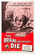 "Movie Posters:Horror, The Brain That Wouldn't Die (American International, 1962). OneSheet (27"" X 41"").. ..."