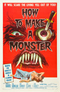 """Movie Posters:Horror, How to Make a Monster (American International, 1958). One Sheet(27"""" X 41"""").. ..."""
