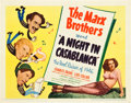 """Movie Posters:Comedy, A Night in Casablanca (United Artists, 1946). Title Lobby Card andScene Card (11"""" X 14"""").. ... (Total: 2 Items)"""