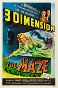 """Movie Posters:Horror, The Maze (Allied Artists, 1953). One Sheet (27"""" X 41""""). 3-D Style.. ..."""