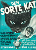 """Movie Posters:Mystery, The Black Cat (Monark, 1946). Danish First Release Poster. (24"""" X 33""""). ..."""