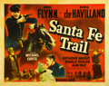 "Movie Posters:Drama, Santa Fe Trail (Warner Brothers, 1940). Half Sheet (22"" X 28"")....."