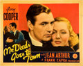 "Movie Posters:Comedy, Mr. Deeds Goes to Town (Columbia, 1936). Lobby Card (11"" X 14"")....."