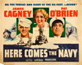"Movie Posters:Comedy, Here Comes the Navy (Warner Brothers, R-1942). Half Sheet (22"" X28"").. ..."