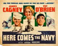"Here Comes the Navy (Warner Brothers, R-1942). Half Sheet (22"" X 28"")"