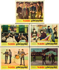"Movie Posters:Rock and Roll, A Hard Day's Night (United Artists, 1964). Lobby Cards (5) (11"" X14"").. ... (Total: 5 Items)"