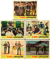 """A Hard Day's Night (United Artists, 1964). Lobby Cards (5) (11"""" X 14""""). ... (Total: 5 Items)"""