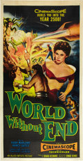 "Movie Posters:Science Fiction, World Without End (Allied Artists, 1956). Three Sheet (41"" X 81"").. ..."