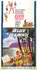 "Movie Posters:Elvis Presley, Blue Hawaii (Paramount, 1961). Three Sheet (41"" X 81"").. ..."