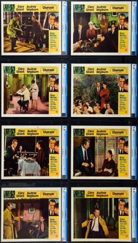 "Charade (Universal, 1963). CGC Graded Lobby Card Set of 8 (11"" X 14""). ... (Total: 8 Items)"