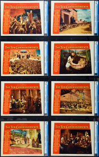 "The Ten Commandments (Paramount, 1956). CGC Graded Lobby Card Set of 8 (11"" X 14""). ... (Total: 8 Items)"