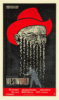 "Movie Posters:Science Fiction, Westworld (Alamo Drafthouse, R-2010). Signed Limited Edition Poster(19"" X 32""). ..."