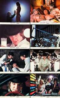 """A Clockwork Orange (Warner Brothers, 1971). British Front of House Lobby Card Set of 14 (8"""" X 10""""). ... (Total..."""