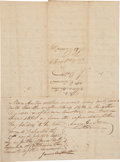 "Autographs, Moses Austin Document Signed ""Moses Austin"". Four pages,7.5"" x 10.25"", Genevieve, Missouri, July 27, 1813. ..."