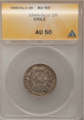 Chile, Chile: Condor Duo of 2 Reales 1846-48,... (Total: 2 coins)