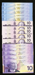 Canadian Currency: , Mixed Lot of Modern Canadian Notes. Fifteen Examples.. ... (Total:15 notes)